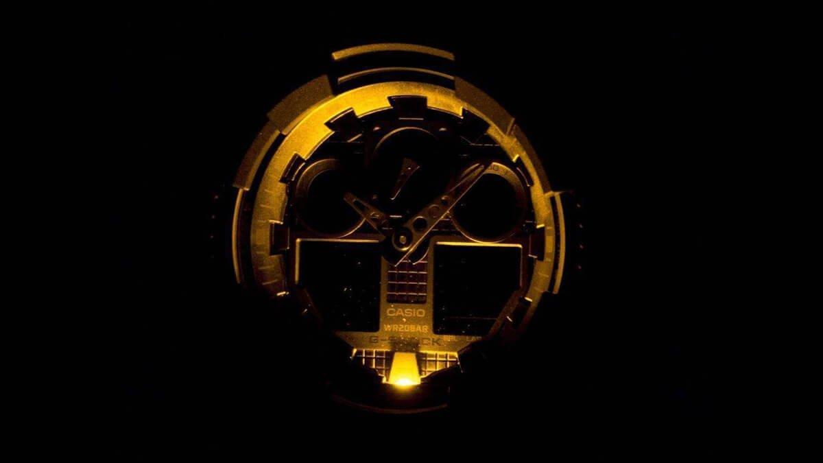 Słabe oświetlenie zegarka Casio Casio