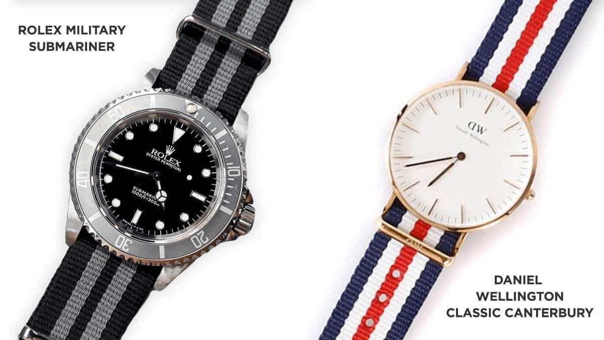 Tekstylny pasek zegarka Rolex był inspiracją dla damskiego zegarka Daniel Wellington