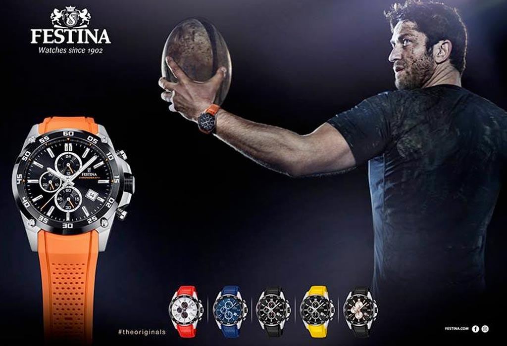 Gerard Butler w kampani spotrowych zegarków Festina