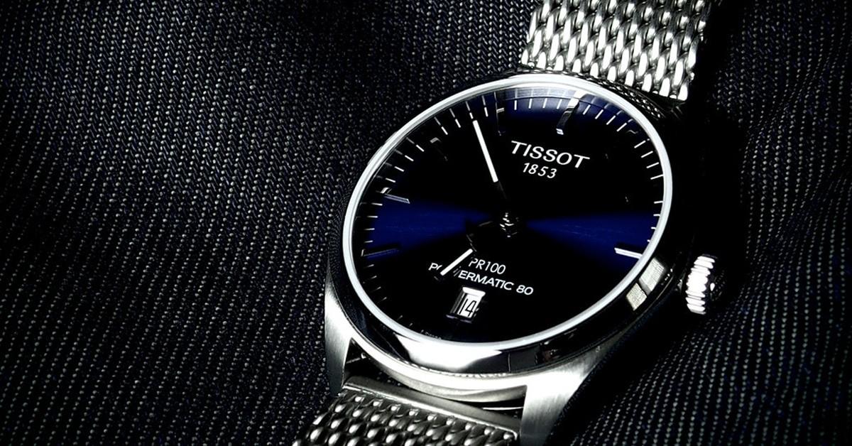 Elegancki szwajcarski zegarek Tissot wykonany ze stali nierdzewnej